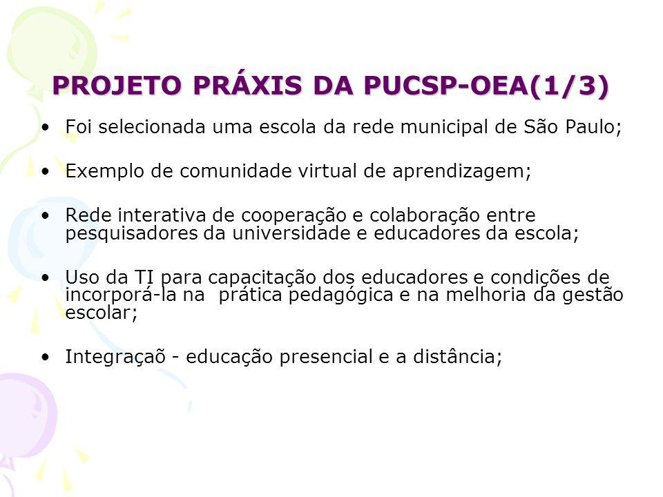 PROJETO PRÁXIS DA PUCSP-OEA(1/3)