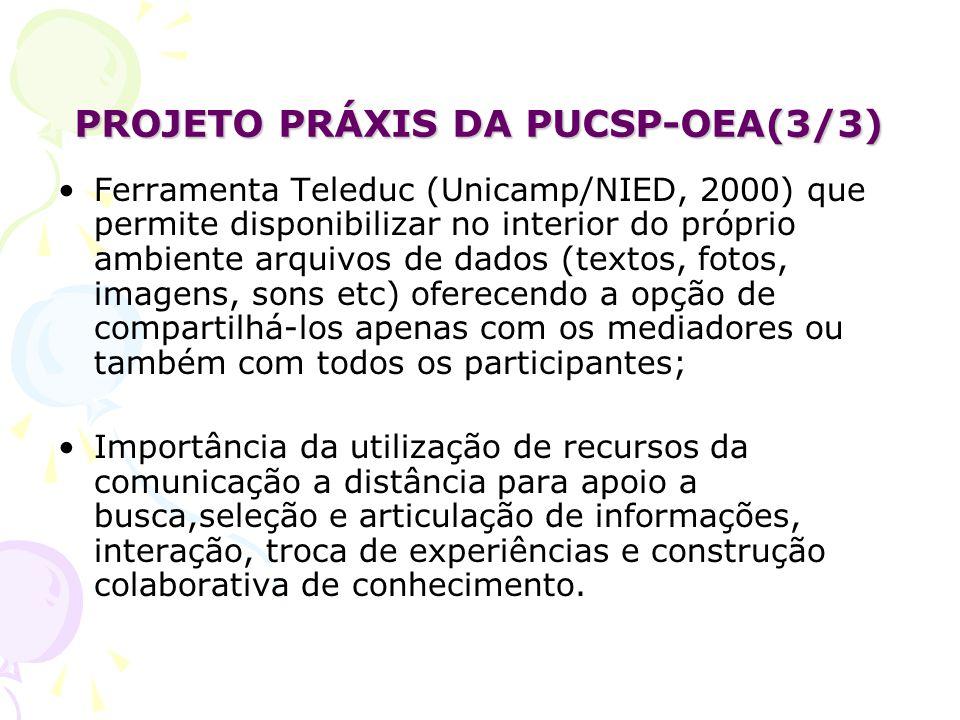PROJETO PRÁXIS DA PUCSP-OEA(3/3)