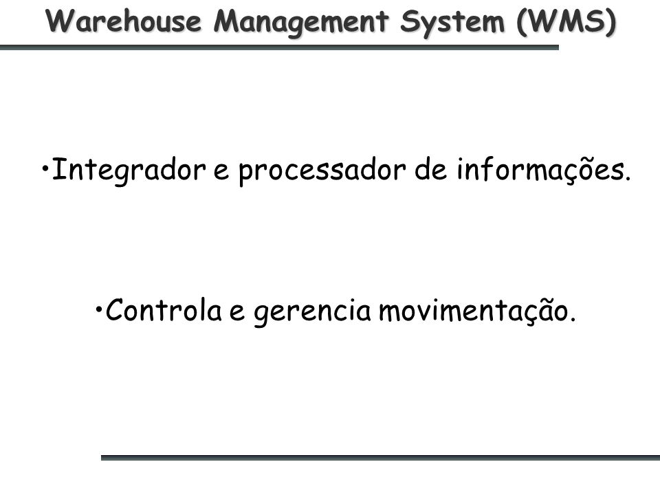 Warehouse Management System (WMS)