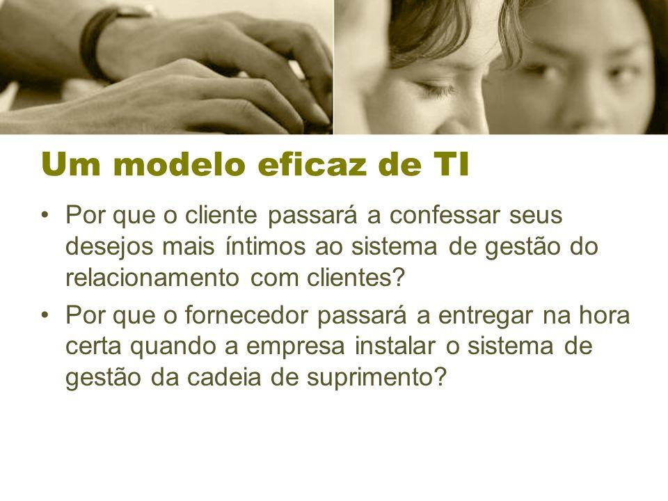 Um modelo eficaz de TI Por que o cliente passará a confessar seus desejos mais íntimos ao sistema de gestão do relacionamento com clientes