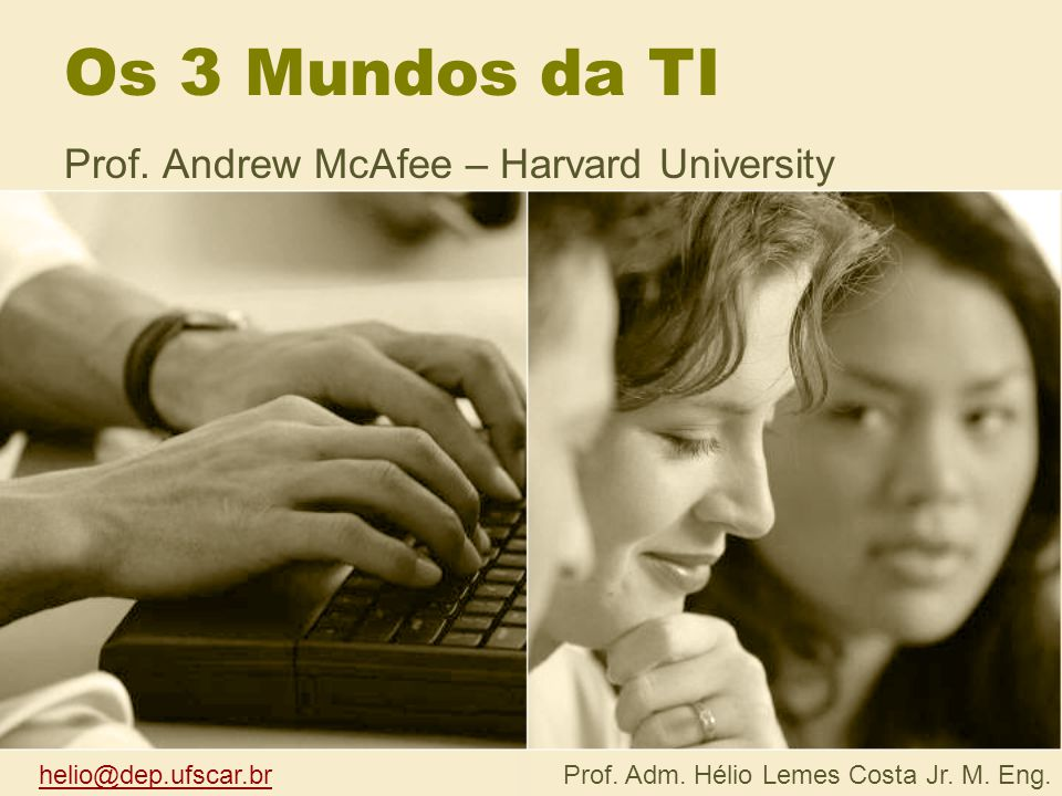 Prof. Andrew McAfee – Harvard University