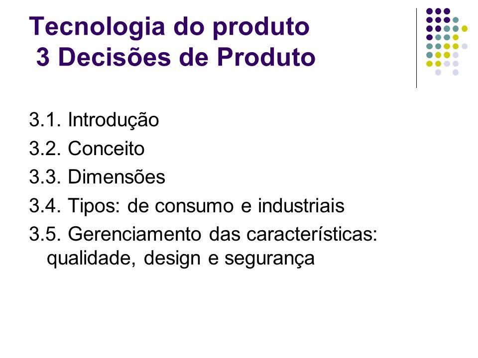 Tecnologia do produto 3 Decisões de Produto