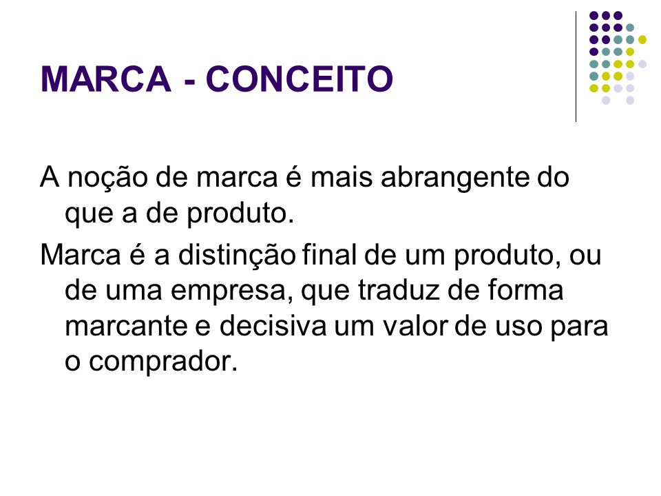 MARCA - CONCEITO
