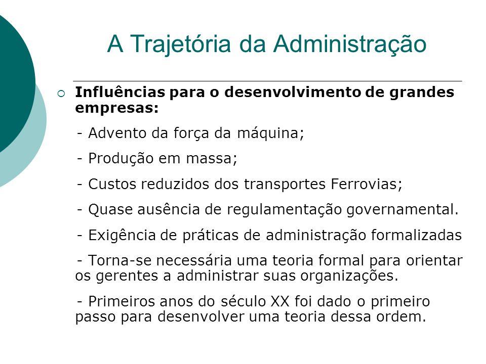 A Trajetória da Administração