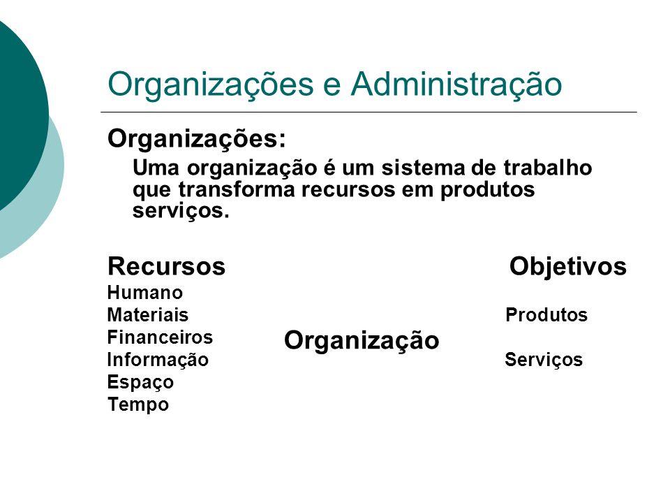 Organizações e Administração