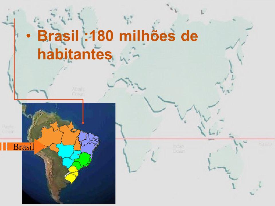 Brasil :180 milhões de habitantes