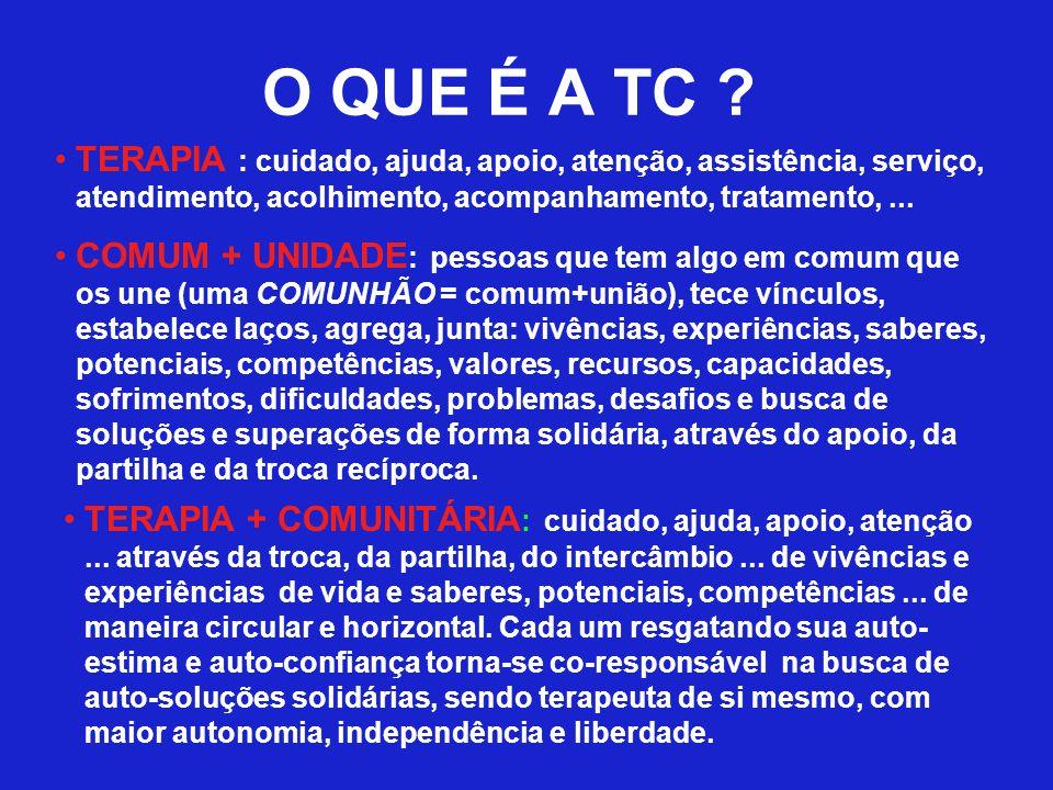 O QUE É A TC TERAPIA : cuidado, ajuda, apoio, atenção, assistência, serviço, atendimento, acolhimento, acompanhamento, tratamento, ...