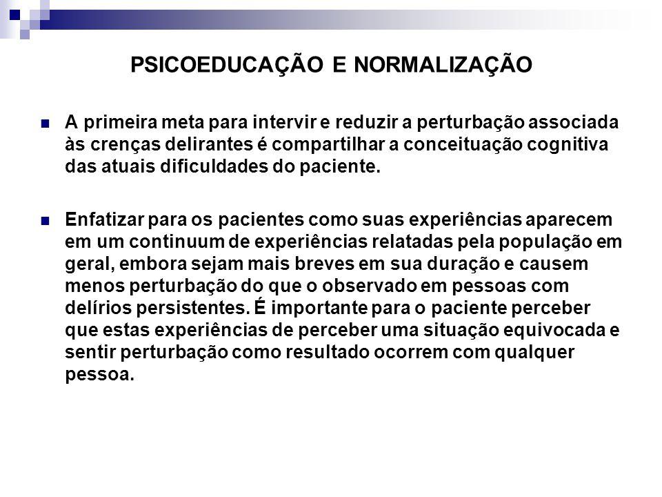 PSICOEDUCAÇÃO E NORMALIZAÇÃO