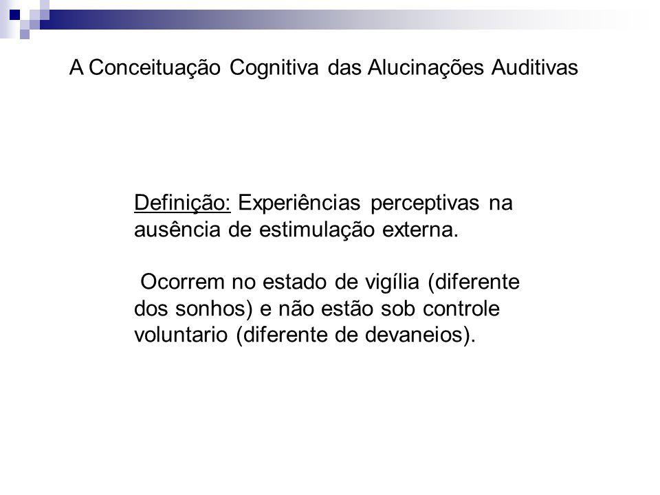 A Conceituação Cognitiva das Alucinações Auditivas