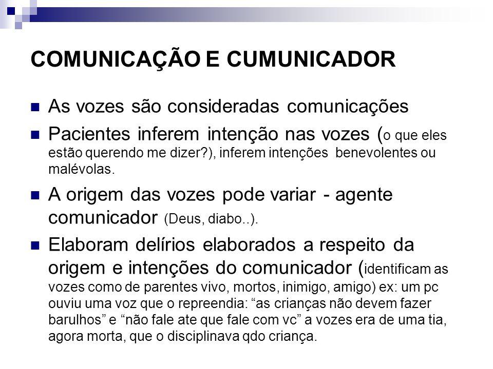 COMUNICAÇÃO E CUMUNICADOR