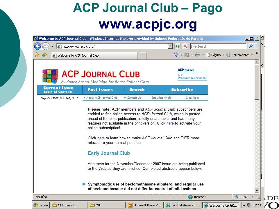 ACP Journal Club – Pago www.acpjc.org