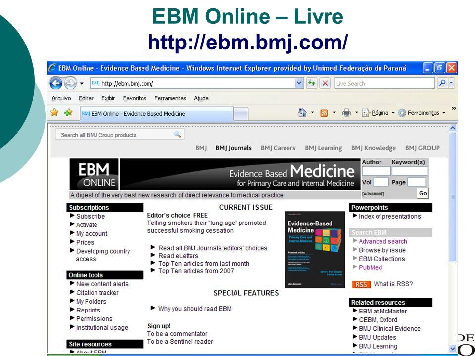 EBM Online – Livre http://ebm.bmj.com/