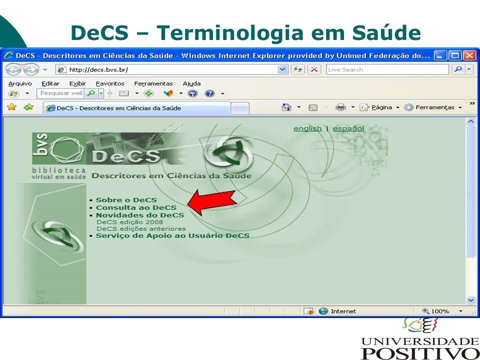 DeCS – Terminologia em Saúde