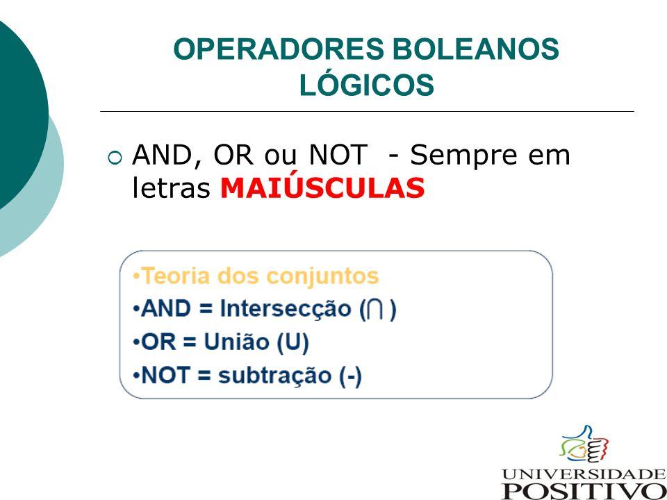 OPERADORES BOLEANOS LÓGICOS