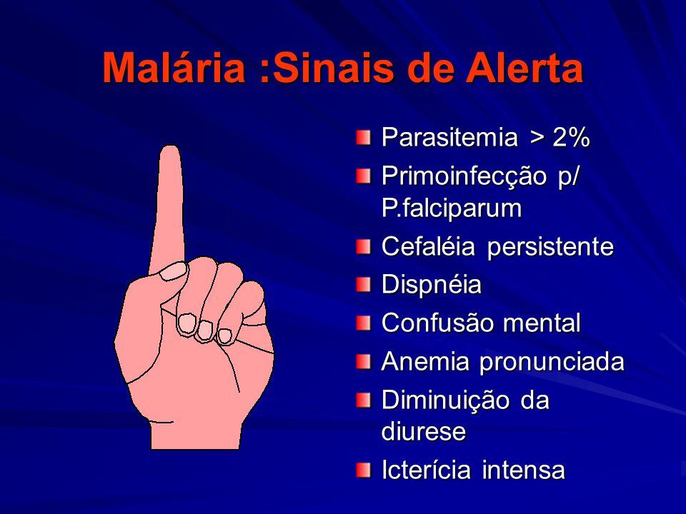 Malária :Sinais de Alerta