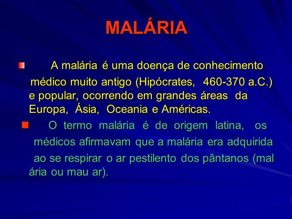 MALÁRIA A malária é uma doença de conhecimento
