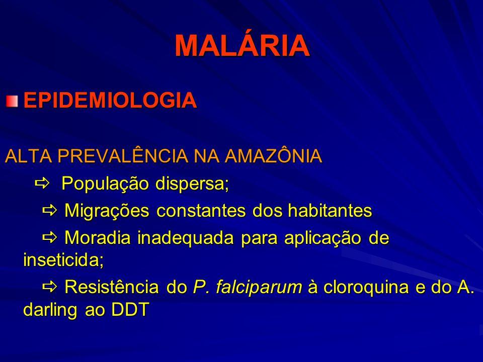 MALÁRIA EPIDEMIOLOGIA ALTA PREVALÊNCIA NA AMAZÔNIA