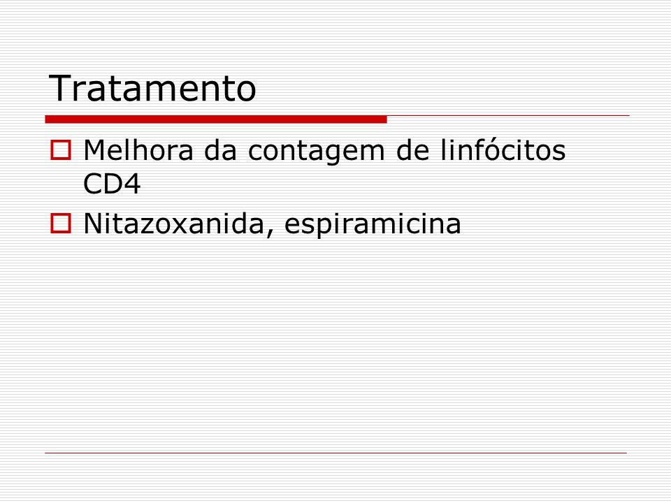 Tratamento Melhora da contagem de linfócitos CD4