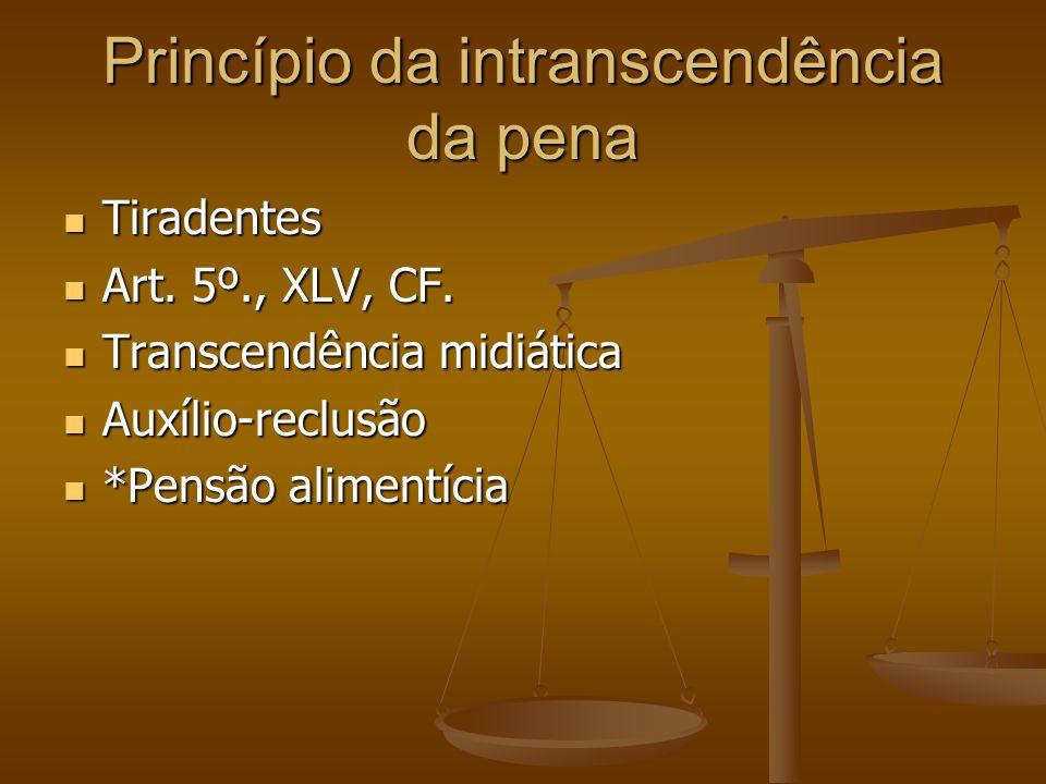 Princípio da intranscendência da pena