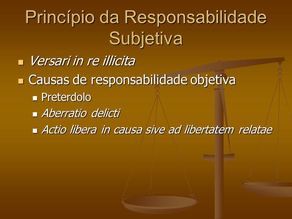 Princípio da Responsabilidade Subjetiva