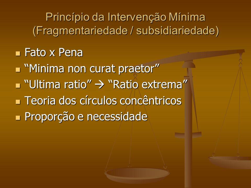 Princípio da Intervenção Mínima (Fragmentariedade / subsidiariedade)