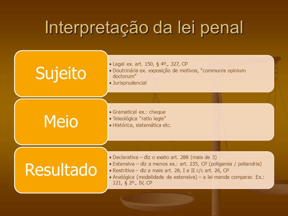 Interpretação da lei penal