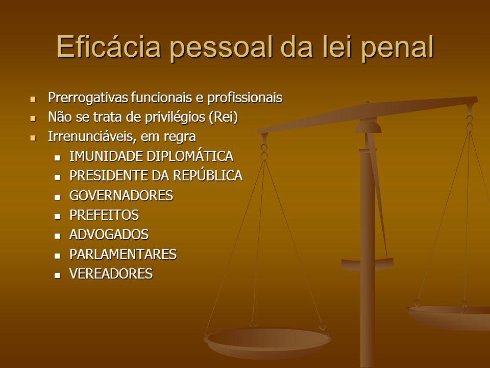 Eficácia pessoal da lei penal