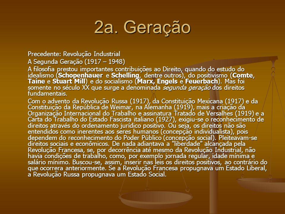 2a. Geração Precedente: Revolução Industrial