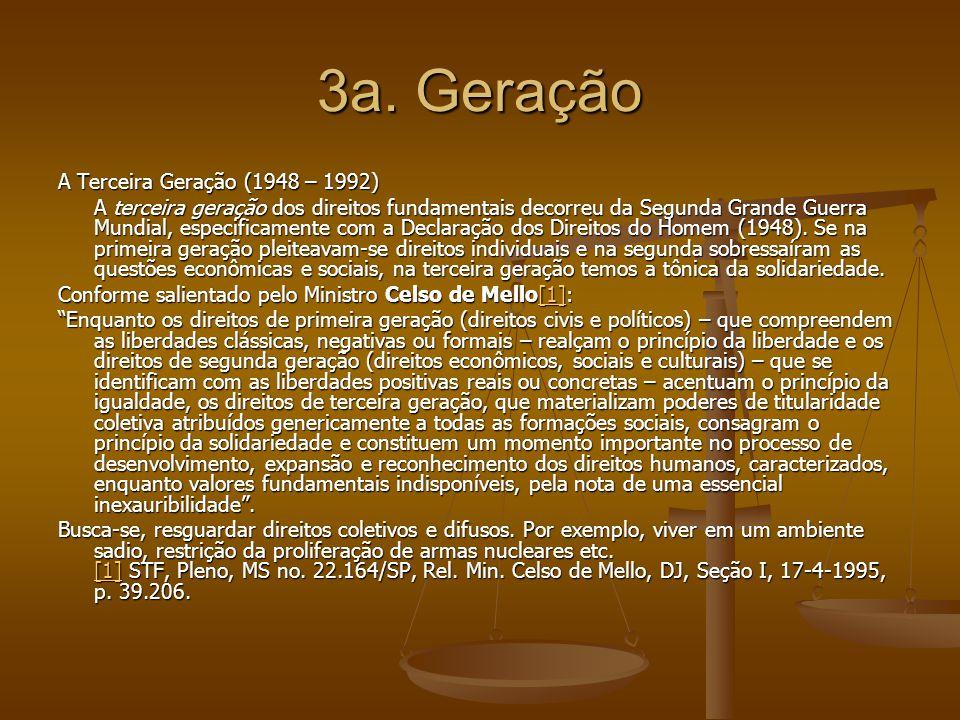 3a. Geração A Terceira Geração (1948 – 1992)