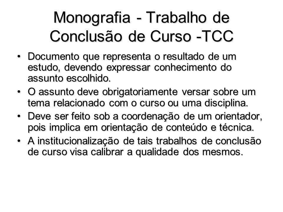 Monografia - Trabalho de Conclusão de Curso -TCC
