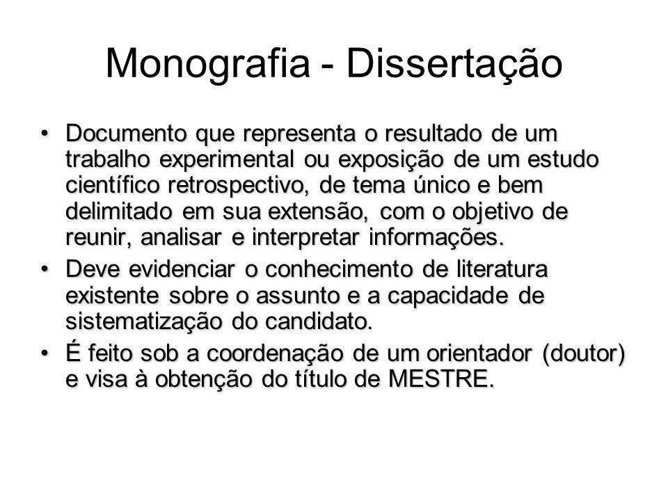 Monografia - Dissertação