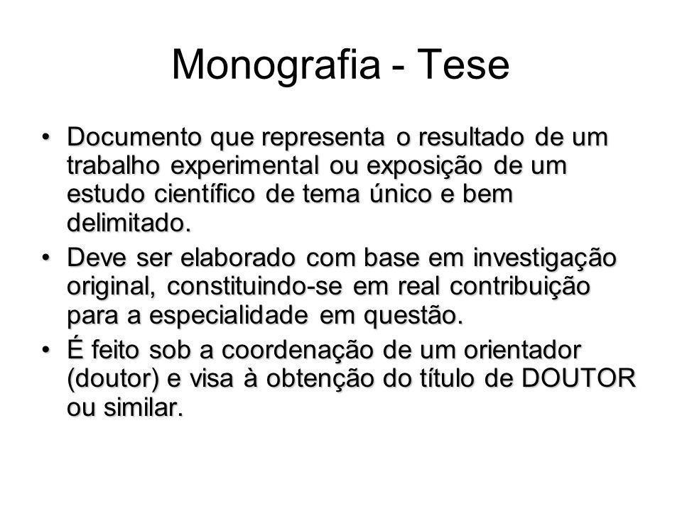 Monografia - Tese