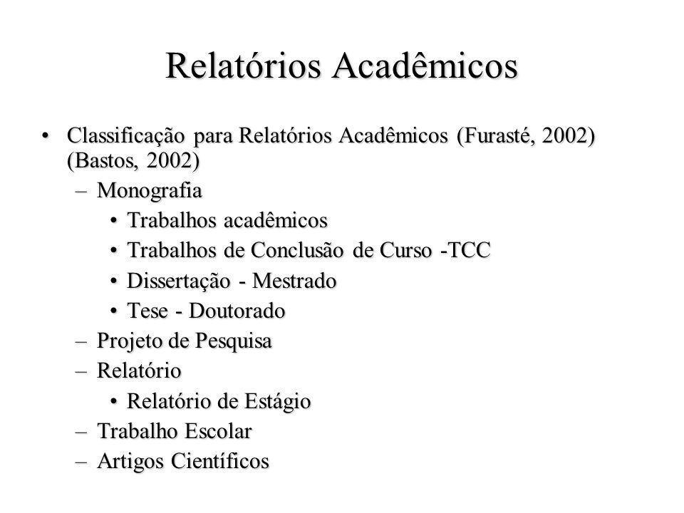 Relatórios Acadêmicos