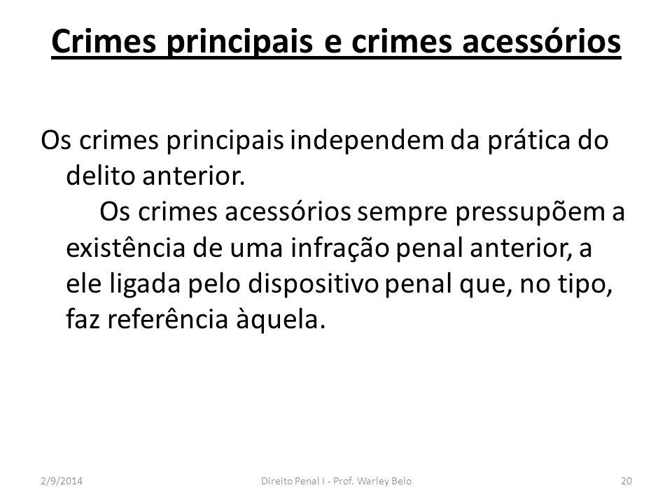 Crimes principais e crimes acessórios