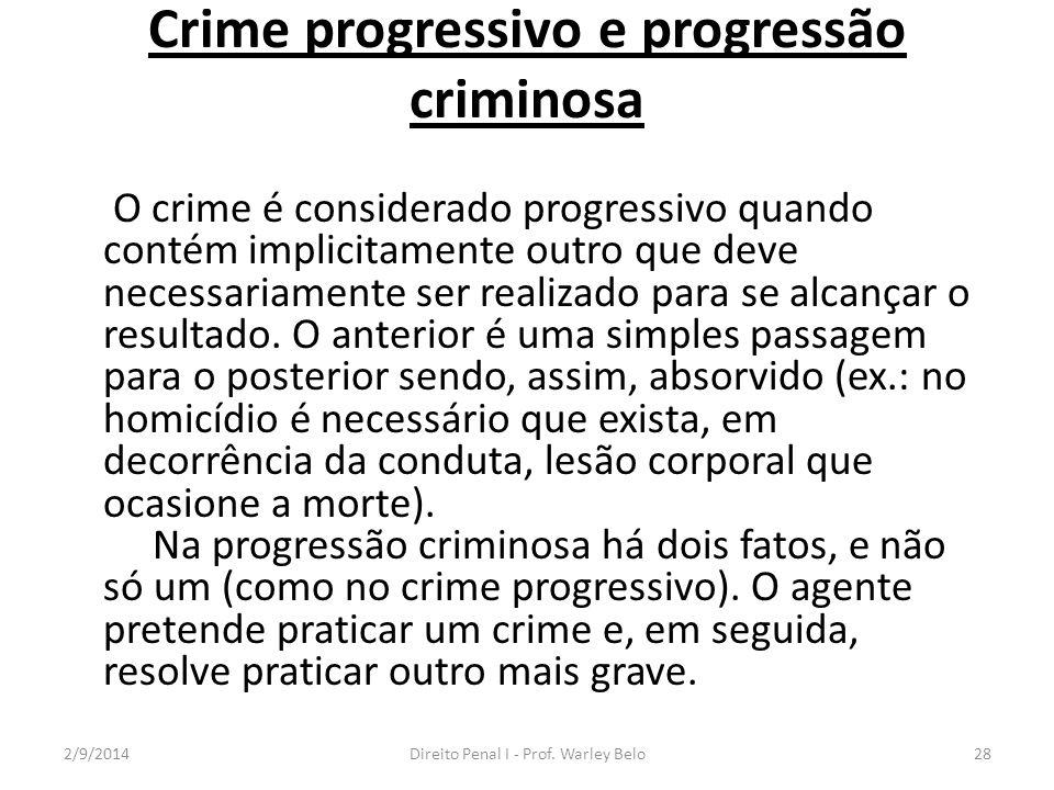 Crime progressivo e progressão criminosa