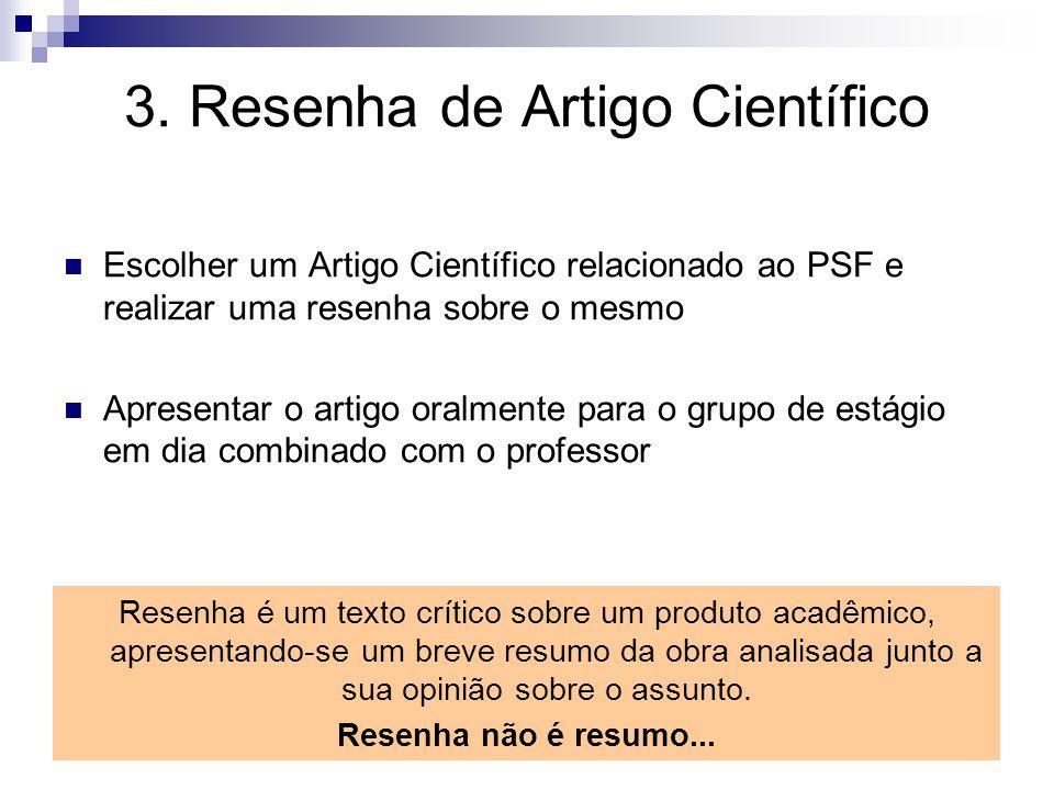 3. Resenha de Artigo Científico