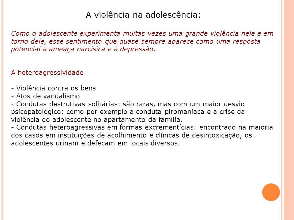 A violência na adolescência: