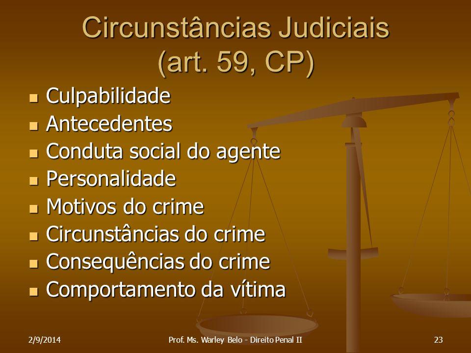 Circunstâncias Judiciais (art. 59, CP)