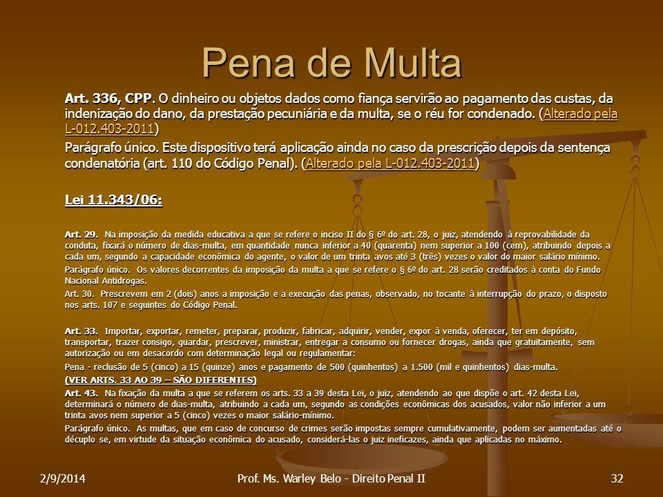 Prof. Ms. Warley Belo - Direito Penal II