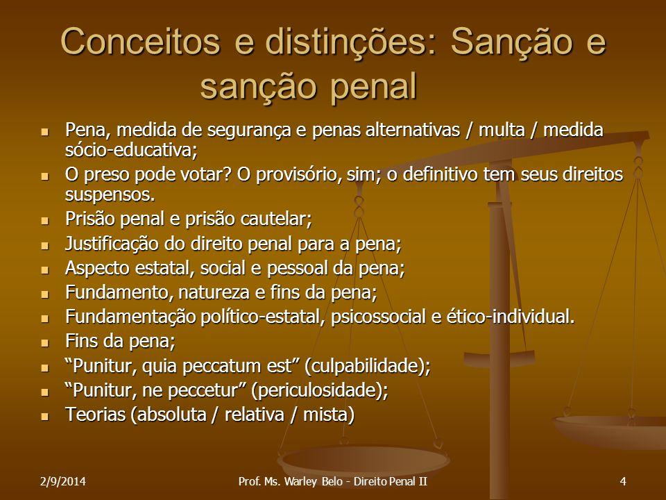 Conceitos e distinções: Sanção e sanção penal