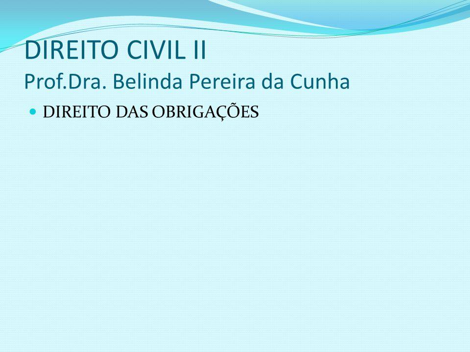 DIREITO CIVIL II Prof.Dra. Belinda Pereira da Cunha