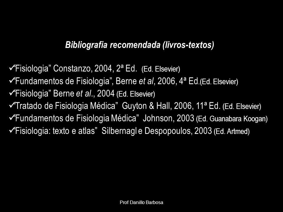 Bibliografia recomendada (livros-textos)