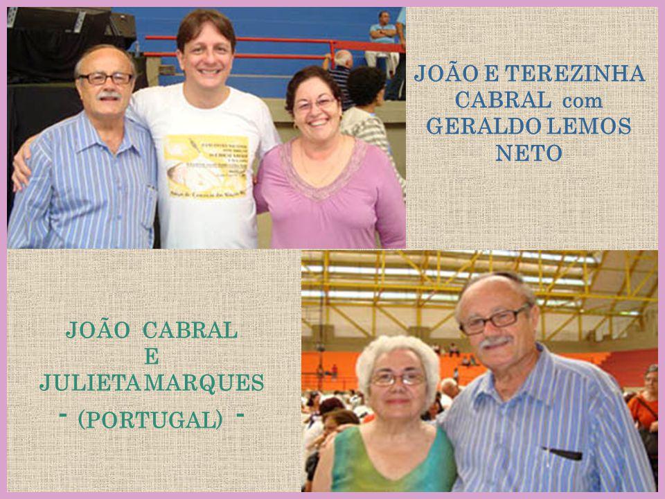 JOÃO E TEREZINHA CABRAL com GERALDO LEMOS NETO