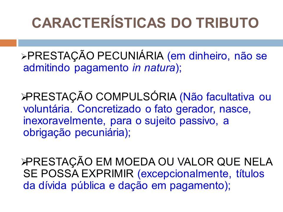 CARACTERÍSTICAS DO TRIBUTO