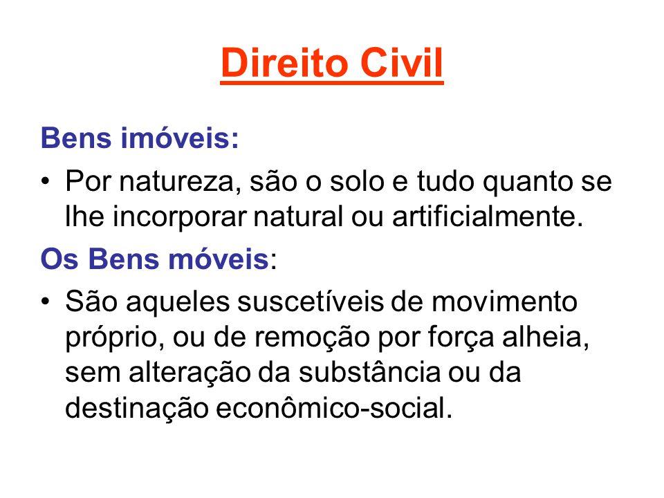 Direito Civil Bens imóveis: