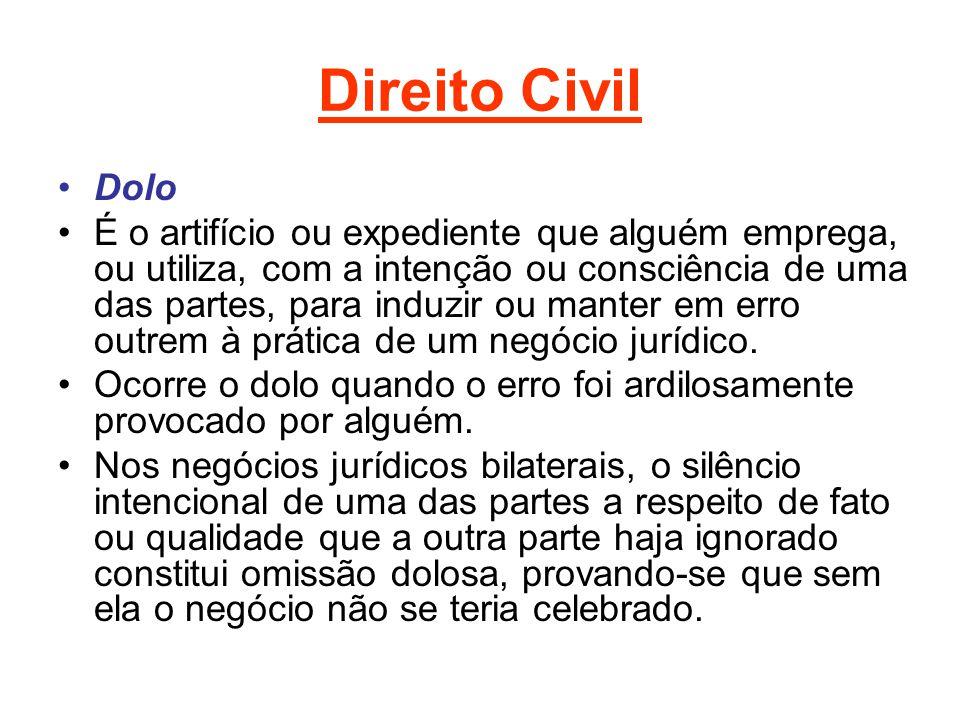 Direito Civil Dolo.