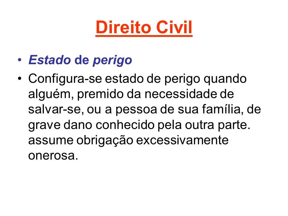 Direito Civil Estado de perigo