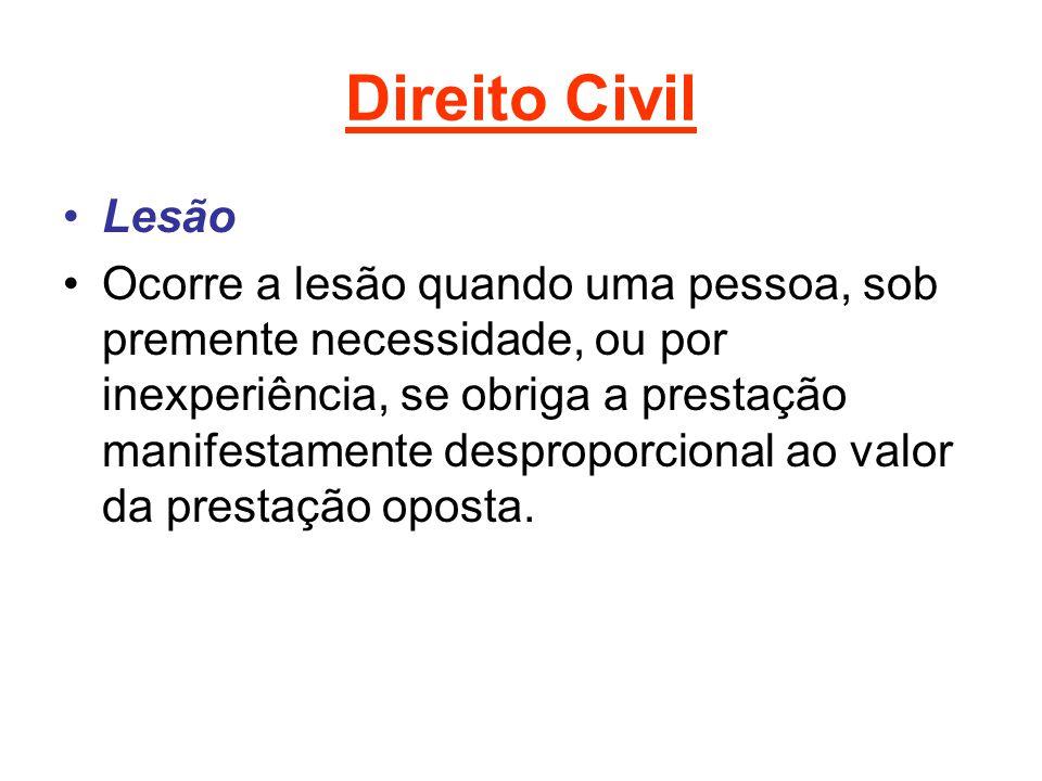 Direito Civil Lesão.