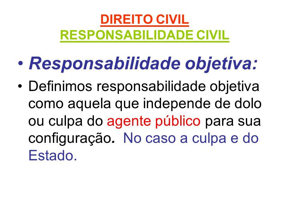 DIREITO CIVIL RESPONSABILIDADE CIVIL