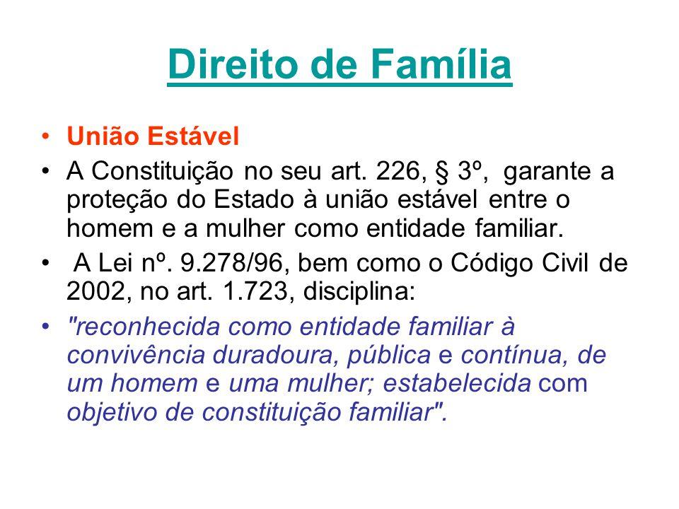 Direito de Família União Estável